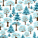 Modello senza cuciture di inverno con l'estratto stilizzato Fotografia Stock