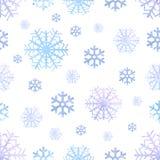 Modello senza cuciture di inverno dell'acquerello dei fiocchi di neve, fondo di natale Illustrazione di vettore illustrazione vettoriale