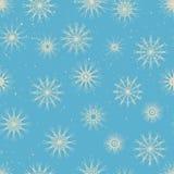 Modello senza cuciture di inverno - precipitazioni nevose in retro scaletta Fotografia Stock