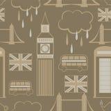 Modello senza cuciture di Londra Immagini Stock Libere da Diritti