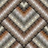Modello senza cuciture di meandro chiave greco moderno geometrico 3d E tribale royalty illustrazione gratis
