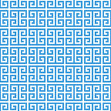 Modello senza cuciture di meandro greco del cerchio Fotografia Stock