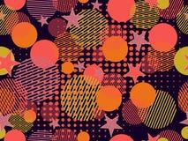 Modello senza cuciture di Memphis Elementi punteggiati e geometrici Memphis di Pop art nello stile 80 di ` s Vettore Illustrazione Vettoriale