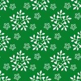Modello senza cuciture di Natale e del nuovo anno con i fiocchi di neve Fotografia Stock