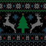Modello senza cuciture di Natale di stile brutto del maglione illustrazione vettoriale
