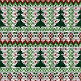 Modello senza cuciture di Natale tricottato colore Fotografia Stock Libera da Diritti