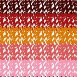 Modello senza cuciture di pendenza nei colori naturali del fiore Vettore disegnato a mano che tricotta struttura illustrazione di stock