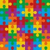 Modello senza cuciture di puzzle Fotografia Stock Libera da Diritti