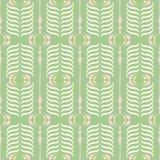 Modello senza cuciture di retro di Ogee di rosa e di verde vettore del fondo Modello geometrico classico moderno Stampa crema del royalty illustrazione gratis