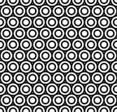 Modello senza cuciture di ripetizione moderno delle forme rotonde di ripetizione Struttura alla moda del punto in bianco e nero d royalty illustrazione gratis