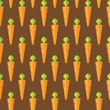 Modello senza cuciture di riserva della carota su fondo marrone per la carta da parati, modello, web, blog, superficie, strutture Immagine Stock
