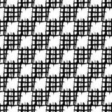 Modello senza cuciture di scacchi Quadrati dipinti a mano con i bordi approssimativi Fotografia Stock