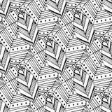 Modello senza cuciture di scarabocchio con le foglie etniche Campione creativo del tessuto della molla o progettazione di imballa illustrazione vettoriale