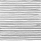 Modello senza cuciture di scarabocchio della banda Spazzola lineare ondulata dell'acqua di scarabocchio, elementi astratti disegn illustrazione vettoriale