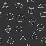 Modello senza cuciture di scienza della geometria Fotografia Stock Libera da Diritti