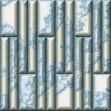 Modello senza cuciture di sollievo del mosaico delle mattonelle incrinate rettangolari immagini stock
