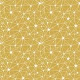 Modello senza cuciture di stelle di vettore giallo della rete illustrazione di stock