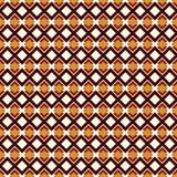 Modello senza cuciture di stile africano con le figure geometriche Fondo astratto ornamentale ripetuto del diamante Motivo etnico royalty illustrazione gratis