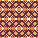 Modello senza cuciture di stile africano con le figure geometriche Fondo ripetuto dell'ornamentale del diamante Motivo etnico e t royalty illustrazione gratis