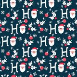 Modello senza cuciture di temi felici di Santa Christmas illustrazione vettoriale