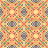 Modello senza cuciture di un tessuto etnico stile messicano nei colori arancio Immagine Stock Libera da Diritti