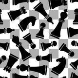 Modello senza cuciture di vektor - scacchi royalty illustrazione gratis