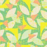 Modello senza cuciture di verde di vettore delle forme geometriche astratte variopinte con struttura di lerciume Adatto a tessuto illustrazione di stock
