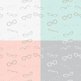 Modello senza cuciture di vetro in 4 combinazioni colori sottili Fotografia Stock
