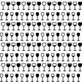 Modello senza cuciture di vetro di vino Fotografia Stock Libera da Diritti