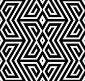 Modello senza cuciture di vettore in bianco e nero astratto di zigzag Immagine Stock