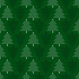 Modello senza cuciture di vettore con gli alberi di Natale Fondo del nuovo anno, modello Fotografie Stock Libere da Diritti