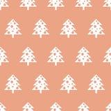 Modello senza cuciture di vettore con gli alberi di Natale Fondo del nuovo anno, modello Fotografia Stock Libera da Diritti
