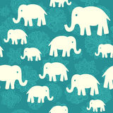 Modello senza cuciture di vettore con gli elefanti Fotografie Stock Libere da Diritti