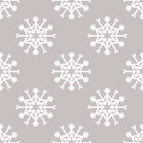 Modello senza cuciture di vettore con i fiocchi di neve Priorità bassa di inverno Illustrazione di Stock
