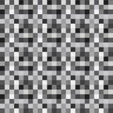 Modello senza cuciture di vettore con i pixel grigi royalty illustrazione gratis