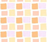 Modello senza cuciture di vettore con i quadrati disegnati a mano colorati Immagini Stock