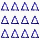 Modello senza cuciture di vettore con i triangoli dell'acquerello di lerciume Illustrazione Vettoriale