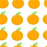 Modello senza cuciture di vettore con l'arancia Illustrazione arancio di vettore del fondo royalty illustrazione gratis