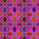 Modello senza cuciture di vettore con l'ornamento geometrico Colori l'illustrazione decorativa per la stampa, web del mosaico Fotografia Stock