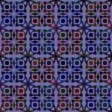 Modello senza cuciture di vettore con l'ornamento geometrico Colori l'illustrazione decorativa per la stampa, web del mosaico Fotografia Stock Libera da Diritti