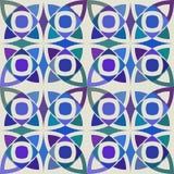 Modello senza cuciture di vettore con l'ornamento geometrico Colori l'illustrazione decorativa per la stampa, web del mosaico Immagini Stock Libere da Diritti