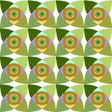Modello senza cuciture di vettore con l'ornamento geometrico Colori l'illustrazione decorativa per la stampa, web del mosaico Fotografie Stock