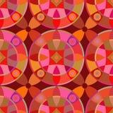 Modello senza cuciture di vettore con l'ornamento geometrico Colori l'illustrazione decorativa per la stampa, web del mosaico Immagine Stock Libera da Diritti