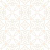 Modello senza cuciture di vettore con l'ornamento simmetrico Linee arrotondate geometriche sottili astratte fondo nel colore past Fotografia Stock Libera da Diritti