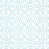 Modello senza cuciture di vettore con l'ornamento simmetrico Linee arrotondate geometriche sottili astratte fondo nel colore past Immagini Stock