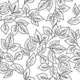 Modello senza cuciture di vettore con le foglie di autunno Immagine Stock Libera da Diritti