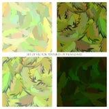 Modello senza cuciture di vettore con le foglie di palma illustrazione vettoriale
