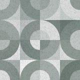 Modello senza cuciture di vettore con le forme e la struttura geometriche monocromatiche di lerciume royalty illustrazione gratis