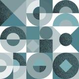 Modello senza cuciture di vettore con le forme e la struttura geometriche monocromatiche di lerciume illustrazione di stock