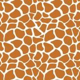 Modello senza cuciture di vettore con struttura della pelle della giraffa Ripetizione del gir Immagini Stock